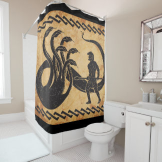 hercules second labor shower curtain