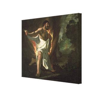 Hercules Tearing the Burning Robe, c.1634 Canvas Print