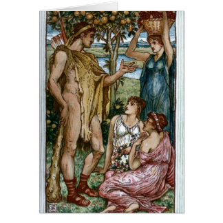 Hercules & the Nymphs Card