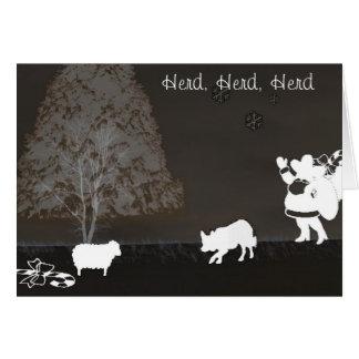 """""""Herd, Herd, Herd""""~Border Collie Christmas Card"""