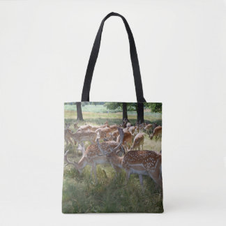 Herd of deer all-over-print tote bag