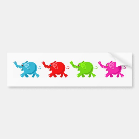 Herd of Elephants Bumper Sticker