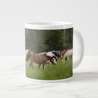 Herd of horses, Tennessee Large Coffee Mug
