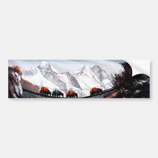 Herd Of Mountain Yaks Himalaya Bumper Sticker