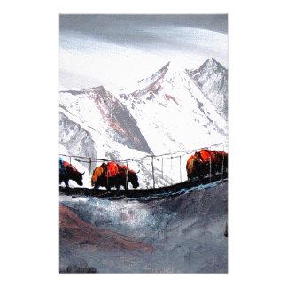 Herd Of Mountain Yaks Himalaya Customized Stationery