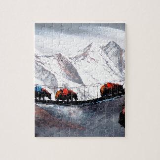 Herd Of Mountain Yaks Himalaya Jigsaw Puzzle