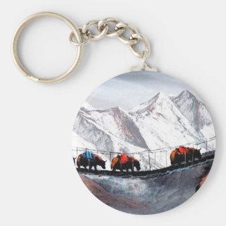 Herd Of Mountain Yaks Himalaya Key Ring