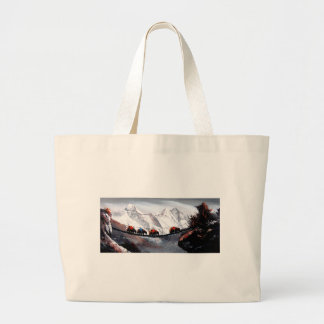 Herd Of Mountain Yaks Himalaya Large Tote Bag