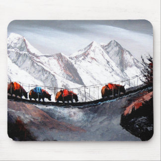 Herd Of Mountain Yaks Himalaya Mouse Pad