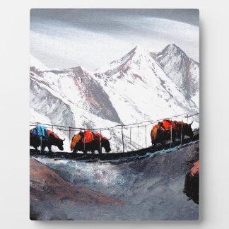 Herd Of Mountain Yaks Himalaya Plaque