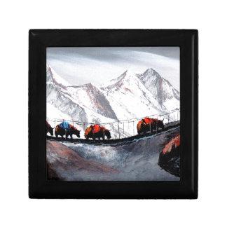 Herd Of Mountain Yaks Himalaya Small Square Gift Box