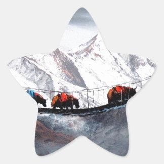 Herd Of Mountain Yaks Himalaya Star Sticker