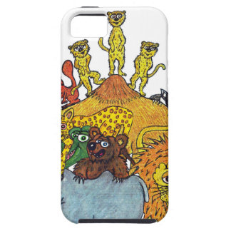 Here a group of animal some big and some tall tough iPhone 5 case
