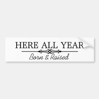 Here all year bumper sticker