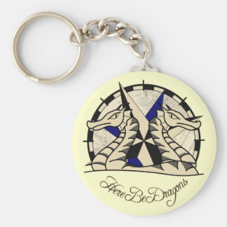 Here Be Dragons - Keyring