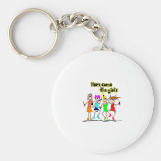 Here come the girls key ring