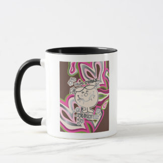 Here Come Trouble | Neon Background Mug