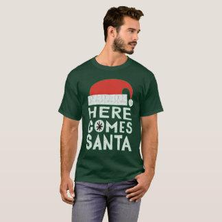 Here Comes Santa Christmas Holiday festive T-shirt