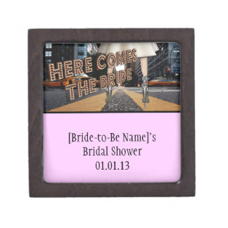 Here Comes the Bride - Bridal Shower Box Favors Premium Keepsake Box