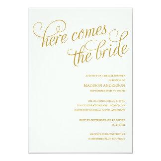 HERE COMES THE BRIDE | BRIDAL SHOWER INVITATION
