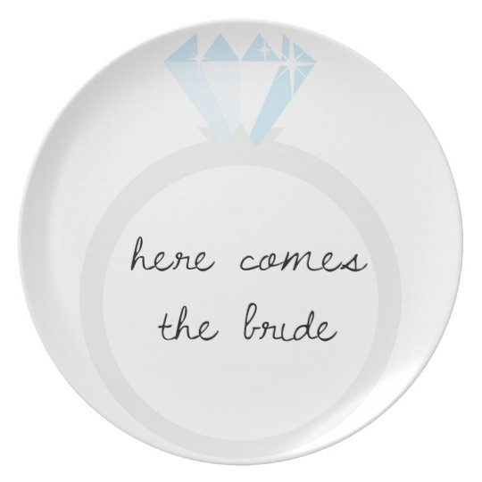 Here Comes the Bride Diamond Ring Plate