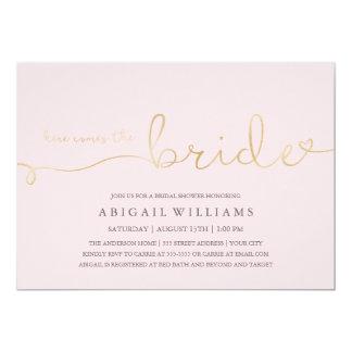 Here comes the bride -shower invitation