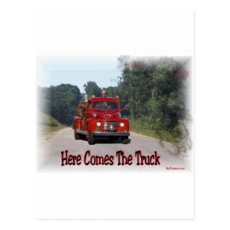 Here Comes The Fire Truck. Postcard