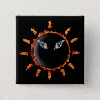 Here Comes The Sun 15 Cm Square Badge