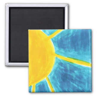 Here Comes The Sun Square Magnet