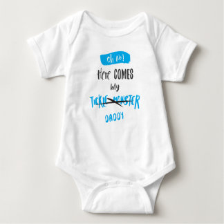 Here Comes the Tickle Monster - Daddy! (For Boys) Baby Bodysuit