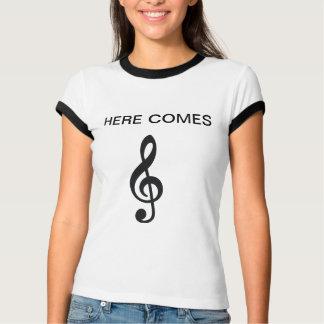here comes TREBLE lmao *highfive* T-Shirt
