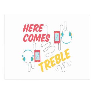 Here Comes Treble Postcard