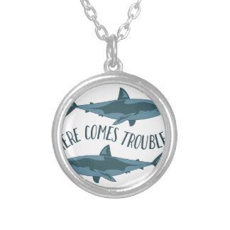 Here Comes Trouble Silver Plated Necklace