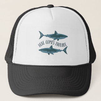 Here Comes Trouble Trucker Hat