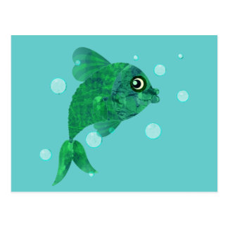 Here  Fishy Postcard