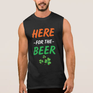 Here for the Beer funny men St Patricks day tee