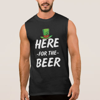 Here for the Beer funny mens St Patricks day tee