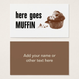 Here Goes Muffin Business Card
