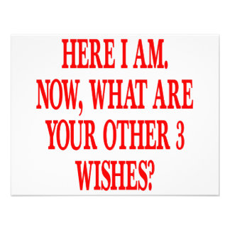 Here I Am Now What Are Your Other 3 Wishes Invite