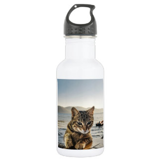 """""""Here I am"""" says the Cat 532 Ml Water Bottle"""