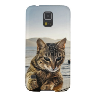 """""""Here I am"""" says the Cat Galaxy S5 Case"""