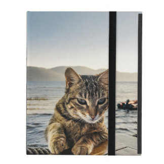 """Here I am"" says the Cat iPad Cover"