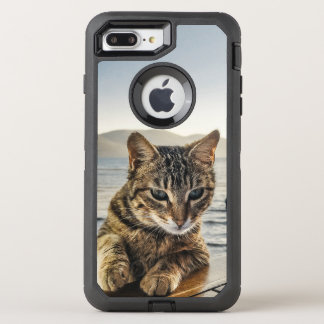 """Here I am"" says the Cat OtterBox Defender iPhone 8 Plus/7 Plus Case"