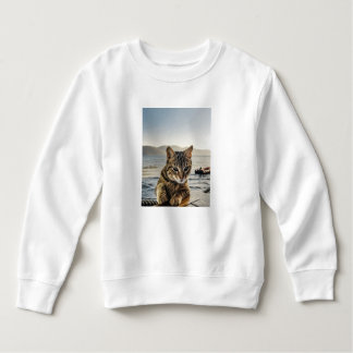 """Here I am"" says the Cat Sweatshirt"