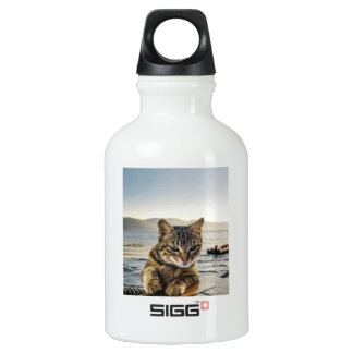 """""""Here I am"""" says the Cat Water Bottle"""