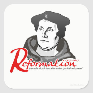 Here I Stand Martin Luther Reformation 500 Sticker