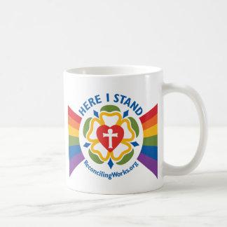 """Here I Stand"" mug"