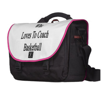 Here Is A Woman Who Loves To Coach Basketball Laptop Messenger Bag