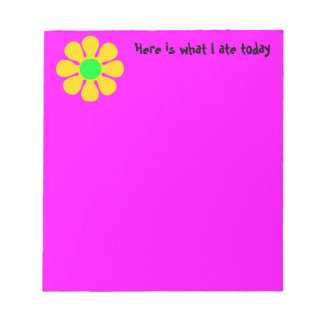 Here is What I Ate Today Notepad