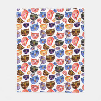 Here Kitty Kitty Fleece Blanket Medium